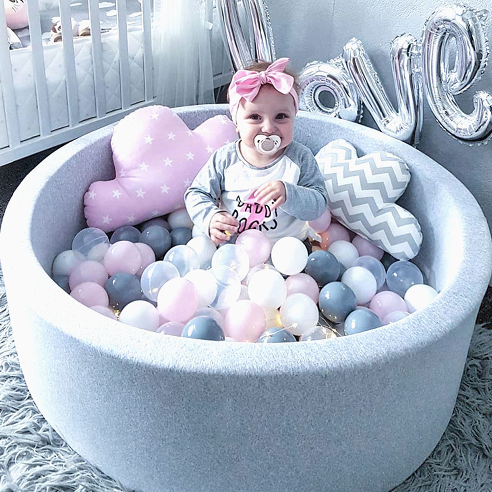 INS Kids Playpen Ocean <font><b>Ball</b></font> Pit <font><b>Baby</b></font> <font><b>Pool</b></font> Infant Sponge Children's Playpen Soft Round Colorful <font><b>Ball</b></font> Pits <font><b>Baby</b></font> Fence Room Decor image
