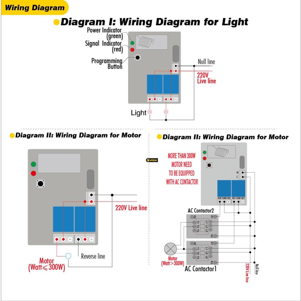 1000w Toggle Switch Wiring Diagram Third Level Emylo Smart Wireless Remote Control Rf 433mhz Ac 220v 230v Rocker
