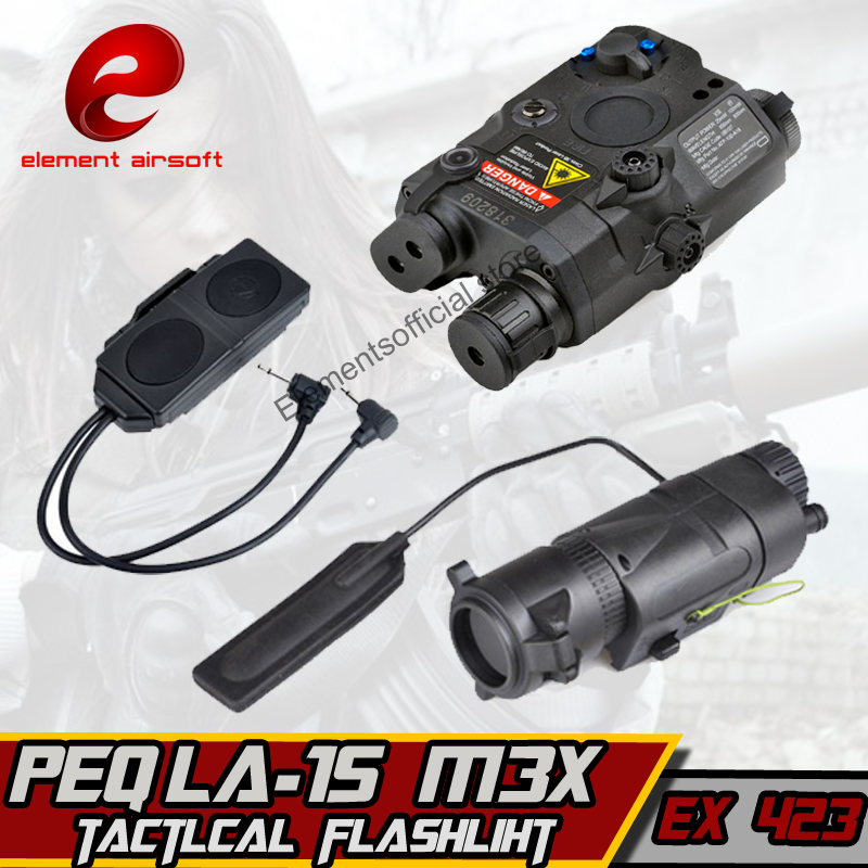 Airsoft Element Softair weapons Light ir laser PEQ 15 Red laser M3X DOUBLE REMOTE CONTROL Weapon