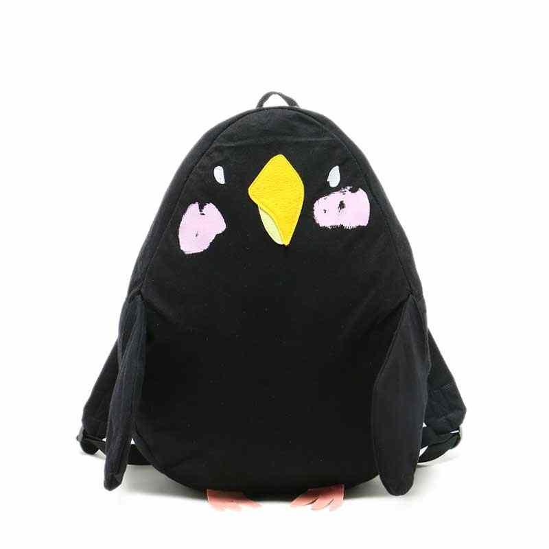 Japonês Bonito Sacos De Escola para Adolescentes Menina Mochilas Animais Forma de Pássaro Papagaio Q173 Kawaii Mochila Feminina Grande Mochila de Viagem
