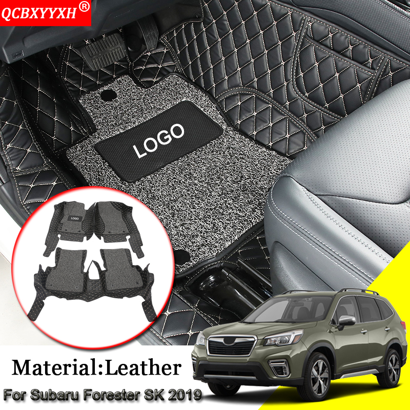 Car Styling Auto Floor Mat Leather All Leather Tray Carpet Cargo Liner Custom Trunk Mat Carpet Fit For Subaru Forester SK 2019