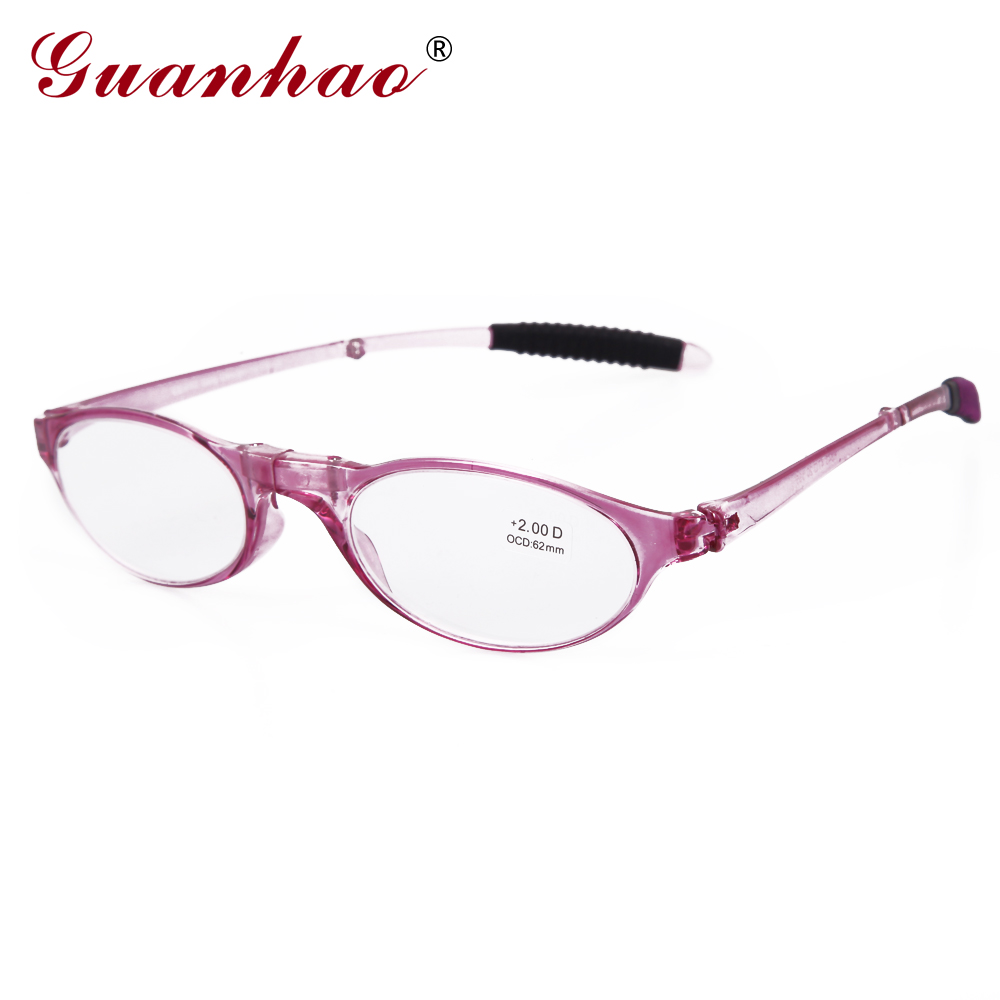 Guanhao Design Fashion Folding Reading Glasses Men Women Round TR90 - Apparel Accessories - Photo 1