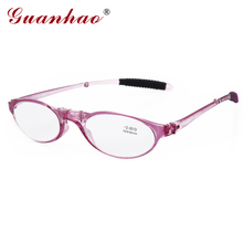 27b7a14cae4 Guanhao Design Fashion Folding Reading Glasses Men Women Round TR90 Frame  Resin Lens Light Slim Presbyopia