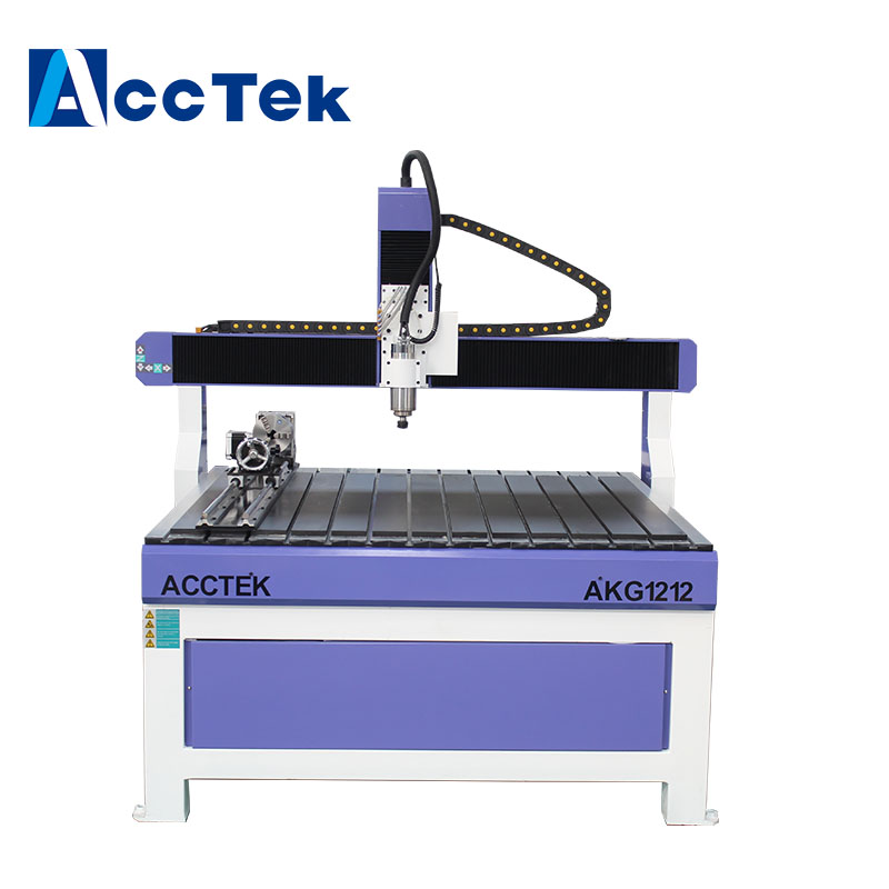 ACCTEK high accuracy fast speed 4th rotary axis wood cnc router 6090 1212 cnc router for art
