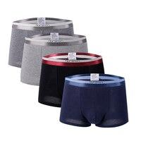 2019 New Sexy Men's Underwear Boxers 4pcs/ lot Young Male L 3XL Lycra Underpants Man Breathable Boxer Shorts Men Underwear