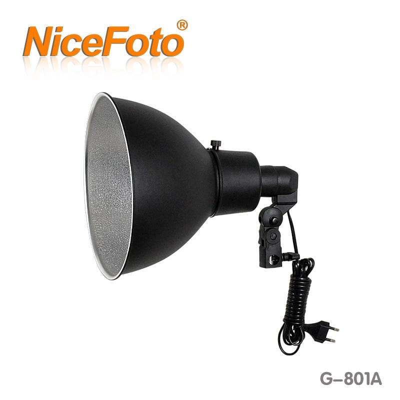 NiceFoto G-801A Photographic Equipment Lamp Cover Flash Light Lamp Base Flash Photography Lighting Video Light jinbei 200 w photo studio led continuous light kit photographic equipment flash lamp photography lighting photographic set cd50