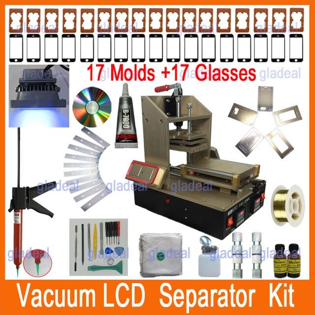 0f974188b8b61b 5 in 1 LCD Repair Machine Kits Set = Samsung Frame Splite + iPhone Frame  Laminator + Vacuum LCD Screen Separator + Glue Remover