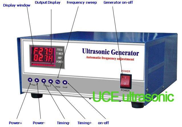 3000W Digital Ultrasonic Generator 7khz/20khz/25khz/28khz/30khz/33khz/40khz Select a frequency