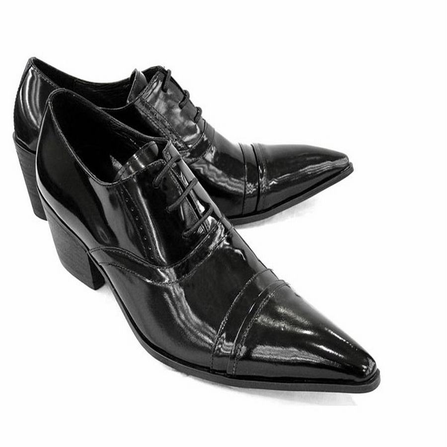 e28748956213 Luxuty Quality Fashion Genuine Leather Brogue Mens Oxford Dress Shoes Male  Formal Business Pointed Toe Lace Up High Heels Retro - aliexpress.com -  imall.com