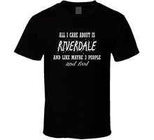 Mad Bro Tees All I Care About Is Riverdale Cool TV Show Trending Funny T Shirt  Free shipping newest Fashion Classic Uniq