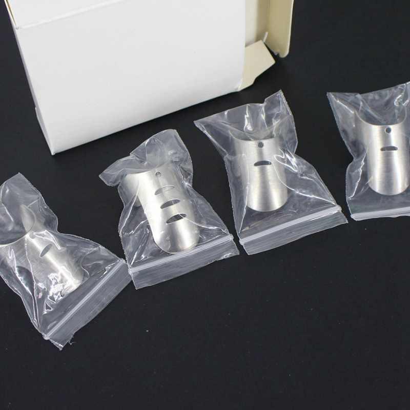 4 ピース/セットステンレス鋼指ハンドガードプロテクターナイフスライスチョップセーフスライス調理ツール