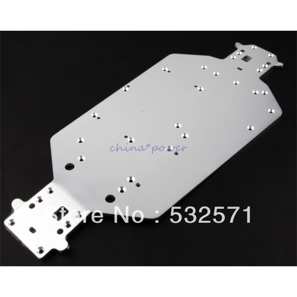 04001 (03601) HSP Original Parts Upgrade Spare Parts For 110 RC Model Car Silver Metal Chassis 04001S