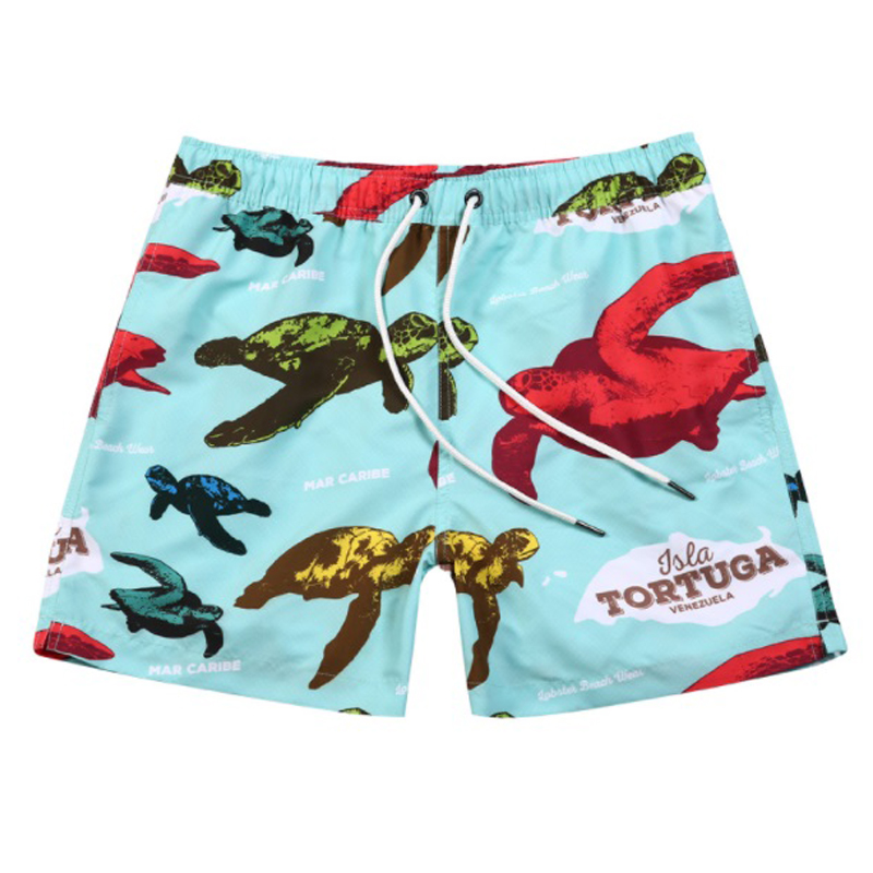Swimwear Men Swimsuits Shorts Turtle-Print Briefs Board New Sunga SD702 Breathable