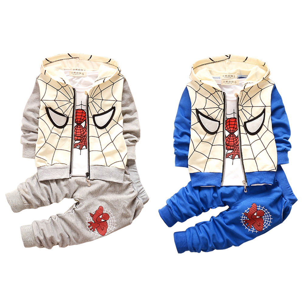 Kids Baby Boys Toddlers Spring Autumn Clothes Sets Outwear Warm Movie Cartoon Tracksuit Coat T-shirt Pants Outfits 1 2 3 Years x56 kids baby boys summer t shirt tops stripe beach pants outfits clothes sets 1 5y hot