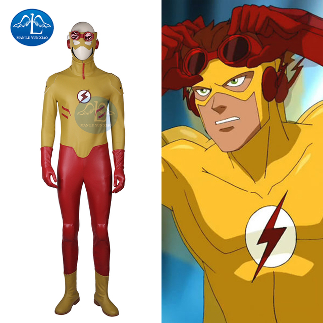MANLUYUNXIAO 2017 New Arrival Young Justice Kid Flash Costume Menu0027s Outfit Halloween Cosplay Costumes for Men  sc 1 st  AliExpress.com & MANLUYUNXIAO 2017 New Arrival Young Justice Kid Flash Costume Menu0027s ...