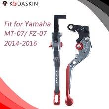 KODASKIN CNC Adjustable for YAMAHA MT-07 FZ-07 MT07 FZ07 2014-2016 Folding Extendable Brake Clutch Levers