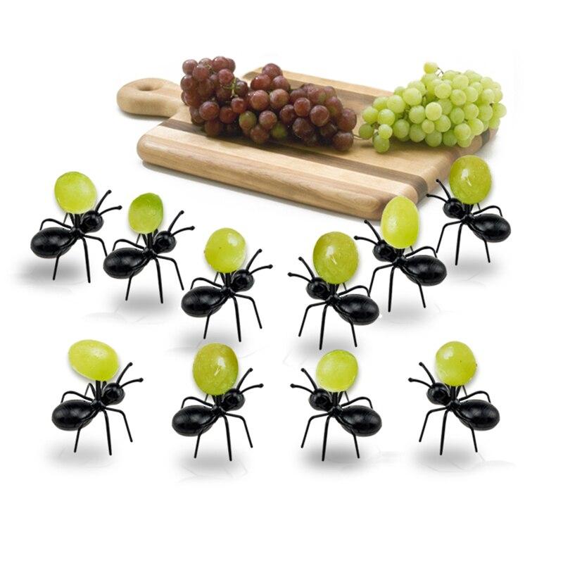 Qookiee 12pcs/set Ant Fruit Fork Plastic Decoration Forks ...