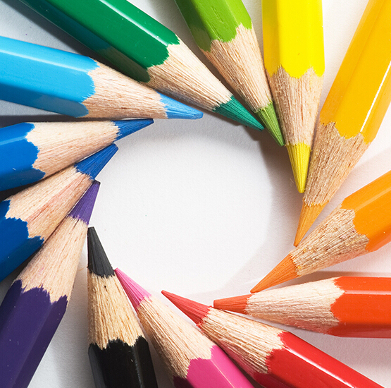 Empaquetado Simple lápices de colores del Doodle de la pluma para ...