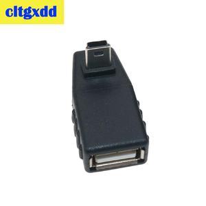 Image 3 - Cltgxdd USB Weiblichen zu Mini V3 USB Männlichen 90 Grad Nach Unten rechts Winkel Links Winkel UP OTG Adapter für Auto AUX Tablet Schwarz Stecker