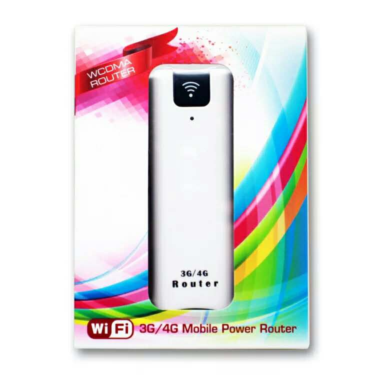WCDMA 3G mobile power Wireless Routers wIth SIM card Slot 2200mAh Portable Power Bank with TF card storage