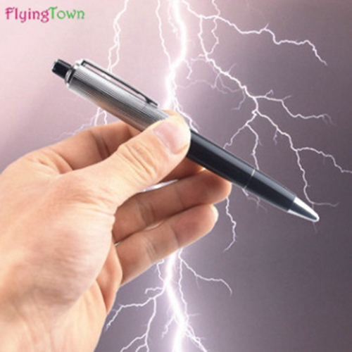 2017 FlyingTown new Fancy Ball Point Pen Shocking Electric Shock Toy Gift Joke Prank Trick Fun Novelty Electric shock pen in Gags Practical Jokes from Toys Hobbies
