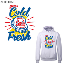 ZOTOONE Letter Patch Iron-on Transfers for Clothing DIY T-shirt Appliques Heat Transfer Vinyl Stickers Stripes on Clothes цена