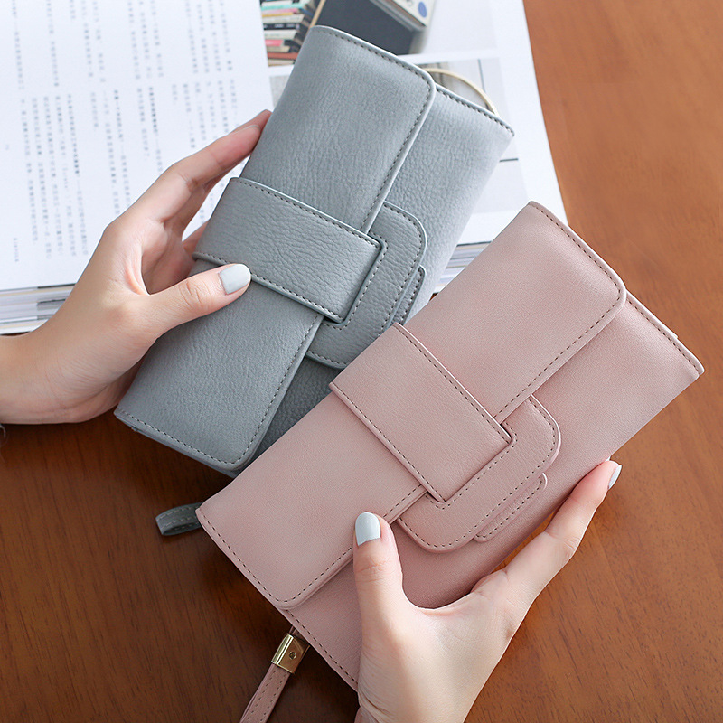 Herren-accessoires Kleidung & Accessoires Solid Color Multi Card Position Wallet With Soft Pu Matte Leather For Female Op
