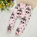 2016 New  Kids Harem Pants Cotton Trousers Baby Pants Cartoon Printed For Toddler Boys Girls Capris Fox Children Clothing Pants