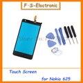 De alta calidad de prueba uno por uno para nokia lumia 625 vidrio frontal len touch reemplazo digitalizador de pantalla negro envío gratis