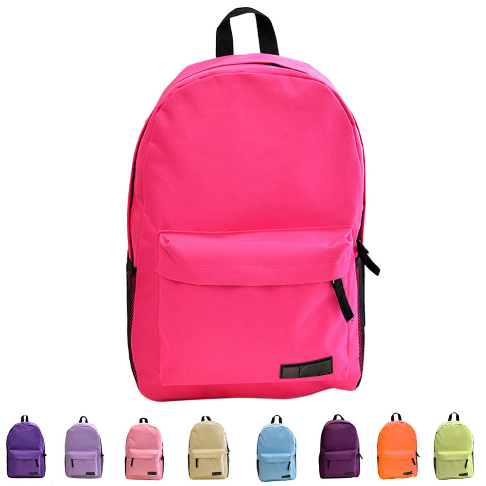 Fashion Simple Women Canvas Backpack Schoolbag  Backpack