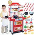 Envío gratis bebé juegos de imaginación casas niño sooktops bebé juguetes de cocina con la luz y sonido, de los niños de cocina conjunto