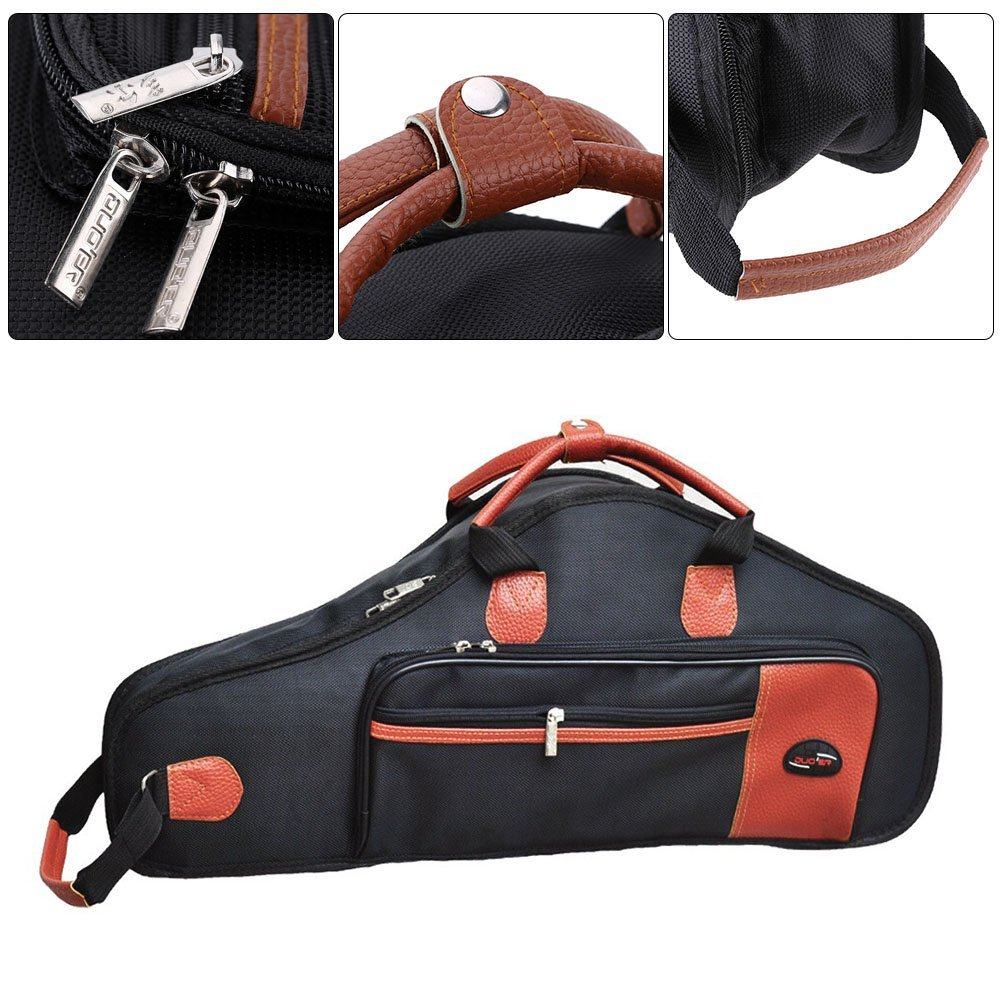 1680D Water-resistant Oxford Cloth Bag Cotton Padded Advanced Fabrics Sax Soft Case Adjustable Shoulder Straps Pocket for Alto