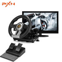 PXN V3II Racing Game Pad 180 Degree Steering Wheel Vibration Joysticks With Foldable Pedal For PC PS3 PS4 Xbox One All-in-one