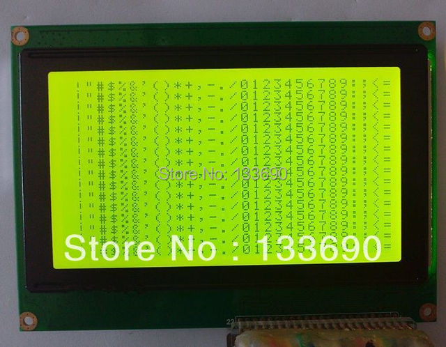 US $25 45 |5 1 inch 240X128 Graphic Dot LCM,22pins Yellow White Controller  T6963c 240128 LCD display-in LCD Modules from Electronic Components &