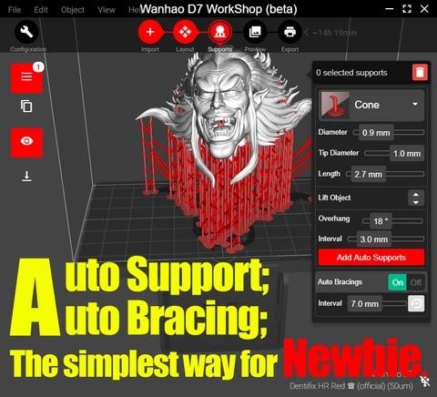 Wanhao D8 Fatiador de software Software de Oficina para o D8 & outros compatível 3D Impressoras Wanhao