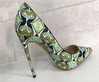 (스즈키) 여성 브랜드 높은 뒤꿈치 신발 뾰족한 발가락 패션 정품