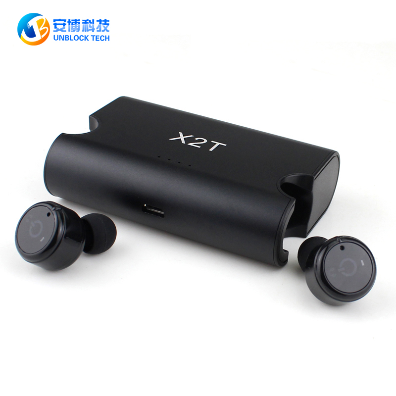 UNBLOCK TECH TWS X2T Portable True Wireless Earbuds Mini Headphone Bluetooth 4.2 Earphon ...