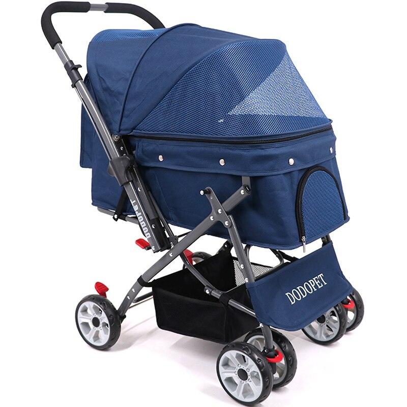 Portable Folding Dog/Cat Stroller/Pet Carrier Cart