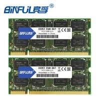 Binful DDR2 4 GB (2x2 GB) 667 mhz PC2-5300 800 mhz PC2-6400 Dual channel für laptop Notebook Speicher memoria Ram
