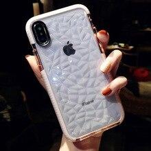 Original Logo Case For iPhone 7 Phone Case Official Cover For iPhone X XR XS Max Case For iPhone 8 6 6S Plus Diamond Pattern slogan pattern iphone case