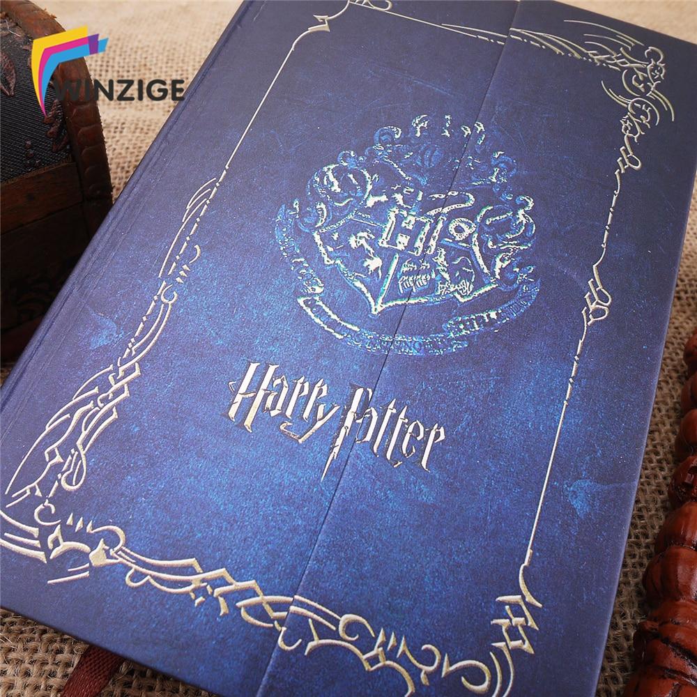Harry Potter Vintage Portable 2018 2019 Couverture Rigide Note Calendrier Journal Livre Bloc-Notes Ordre Du Jour Journal Planificateur Cadeau D'école de Bureau