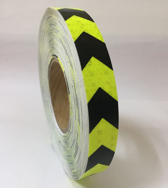 25mm x 50m reflective warning tape with arrow printing for car