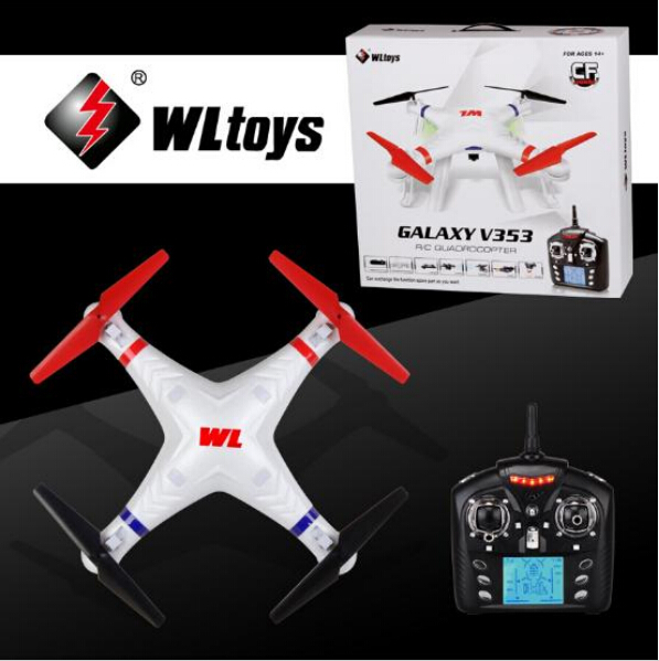 все цены на Free EMS Shipping New Arrival WLtoys V353 Galaxy Headless Mode 2.4G 4CH 6 Axis Gyro RC Quadcopter 1080P HDMI Camera optional