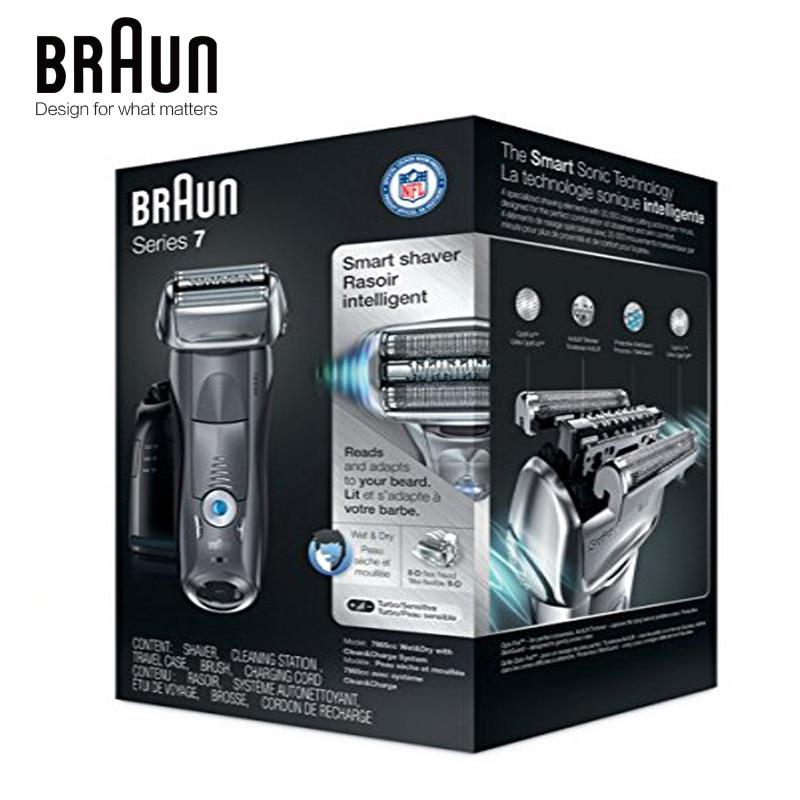 Бритвенный станок Braun электробритва 7865CC для мужчин, перезаряжаемая Серия 7, автоматическая бритва 5