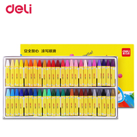 Deli Quality 12 24 36 48 Colors Cute Wax Caryon Set For School Kids Drawing Art