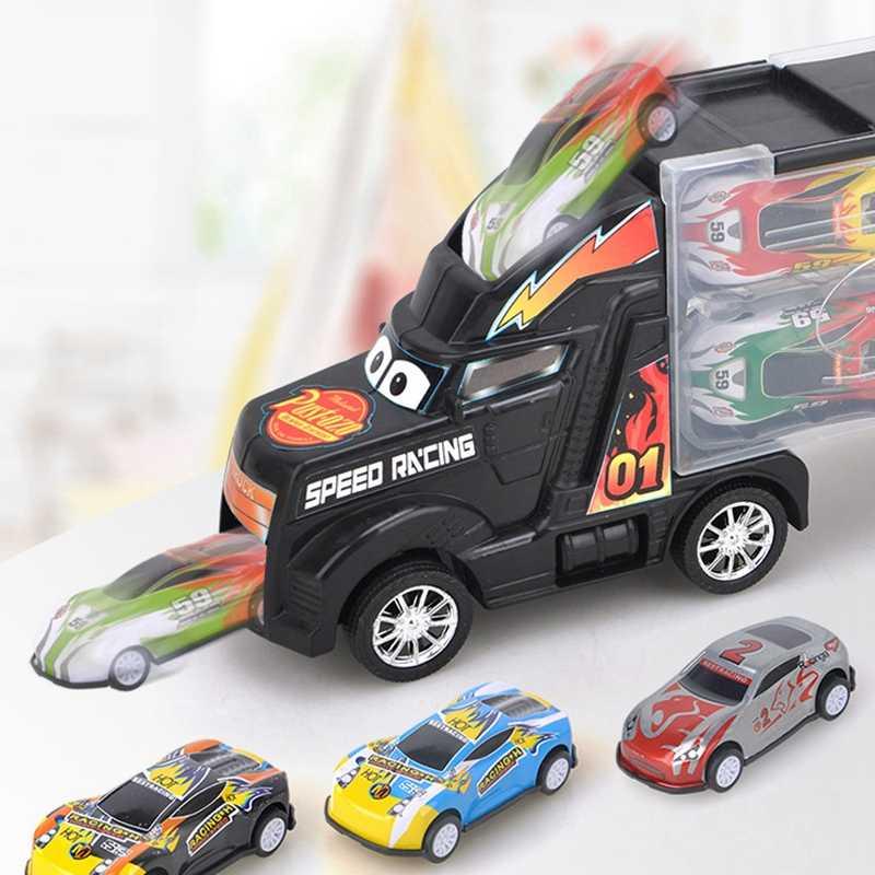 Оттяните автомобиль игрушечный автомобиль детские игрушки для детей мини автомобиль грузовик тяните обратно автомобили литые игрушечные машинки подарок на день рождения 1:24