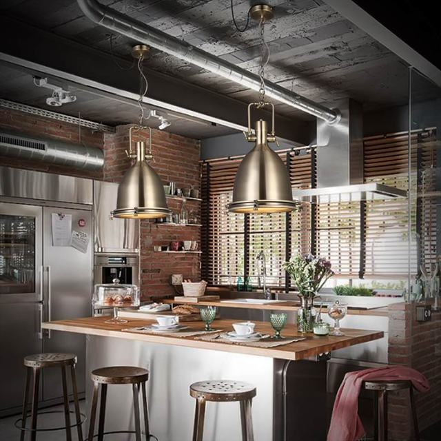 Edison Loft Style Vintage Industrial Retro Pendant L& Light E27 Holder Iron Restaurant Bar Counter Attic & Edison Loft Style Vintage Industrial Retro Pendant Lamp Light E27 ...
