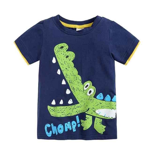 VIDMID 1-10Y Children's T shirt boys t-shirt Baby Clothing Little boy Summer shirt Tees Designer Cotton Cartoon Dinosaur brand
