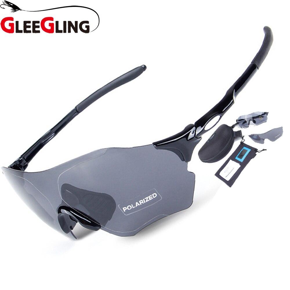 6cf8e2425 Óculos de Sol sobre Prescrição Polarizados dos Homens Gleegling 0800 1  Conjunto 3 Lente 250g Pesca dos Uv400