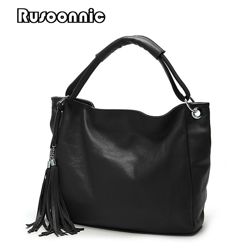 Rusoonnic Casual Tote Women Messenger Bags Leather Handbags Ladies Tassel Clutch Bag Feminina Bolsas Female bags for women 2017 women bucket bag package fashion bolsa feminina casual soft clutch ladies leather shoulder bags tote messenger bolso mujer 2017